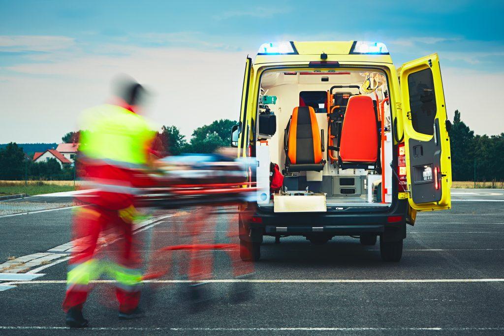 Médico ambulancia eventos deportivos