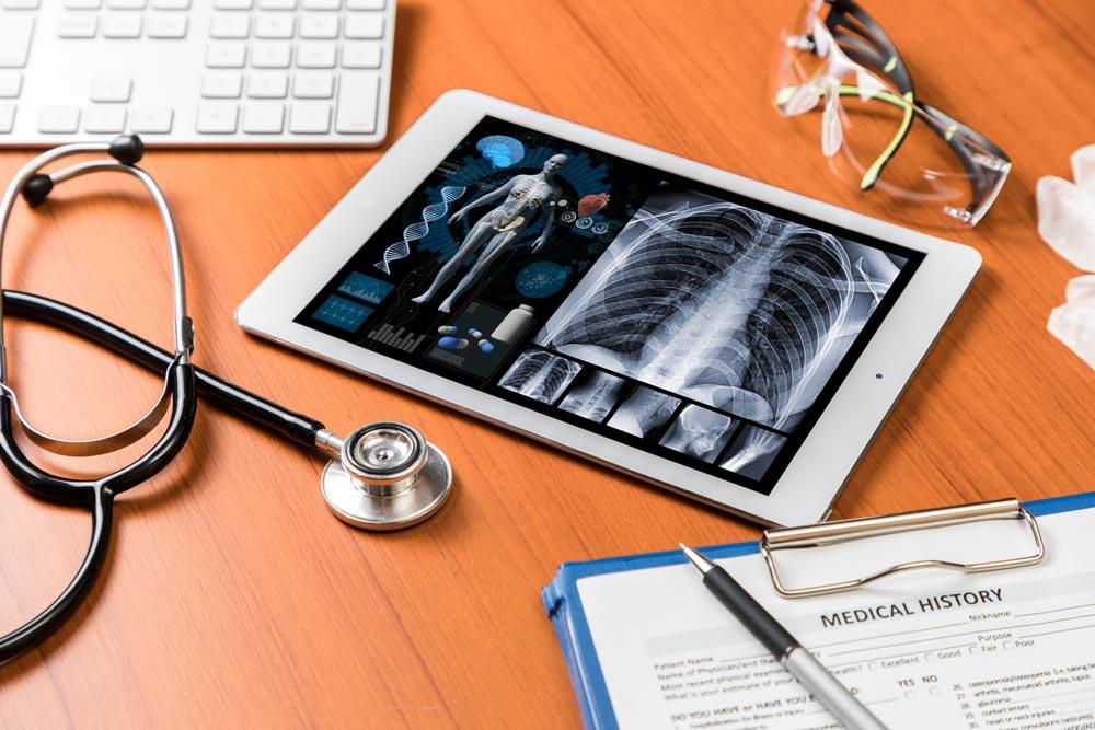 mesa telemedicina tablet